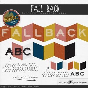 Fall Back Alphabet Preview
