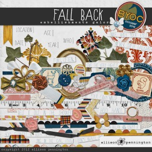 Fall Back Embellishments