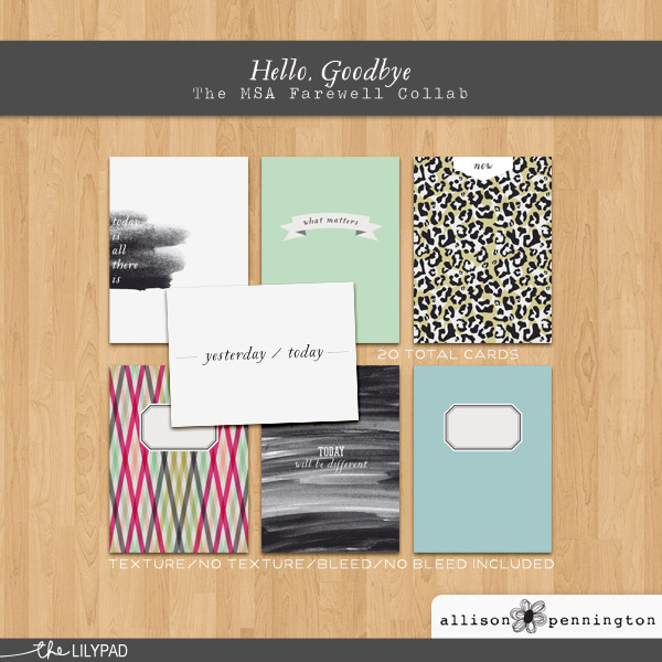 Hello Goodbye Cards